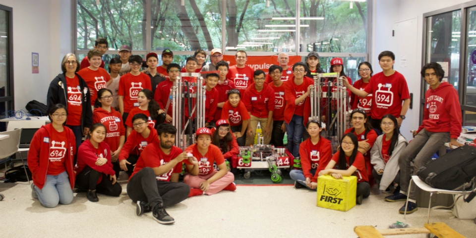 StuyPulse with all 3 robots at Hudson Valley Regional!